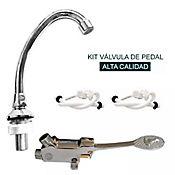 Kit Válvula Pedal Cuello 2 Acoples 1.20Metros