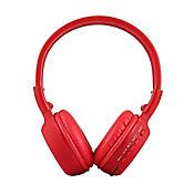 Audífonos Inalámbricos Bluetooth SD Radio FM Rojo