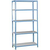 Kit Estantería SimonClick Plus 5/500 Azul/Galvanizado