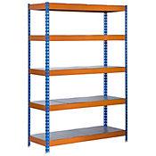 Kit Estantería Bricoforte 1004-5 Metal Azul/Naranja/Galvanizado