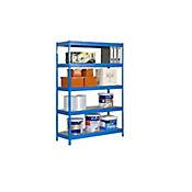 Kit Estantería Bricoforte 1006-5 Metal Azul/Galvanizado