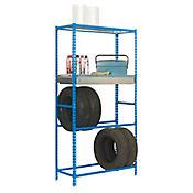 Kit Estantería Simongarage Box Plus 4/400 Azul/Galvanizado