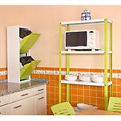 Kit Estantería Homeclassic Plus 5/300 Verde/Blanco