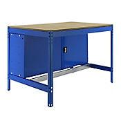 Banco de Trabajo con Almacenamiento Bt0 Locker 900 Azul/Madera Carga Máx. 400 Kgs