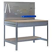 Banco de Trabajo con Panel Click y Cajón Bt2 Box 1200 Galva/Madera Carga Máx. 600 Kgs