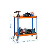 Carro de Herramientas Wagon 2/400 Chipboard Azul/Nar/Mader