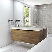 Mueble de baño 124x48 cm con lavamanos Doble Siena Blanco