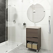 Mueble de baño 48x43 cm con lavamanos Oslo Hueso