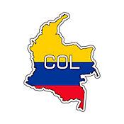 Sticker para Carro - Colombia 3