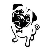Sticker para Carro - Silueta Perro
