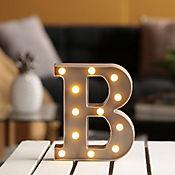Lámpara Decorativa Letra B Gris