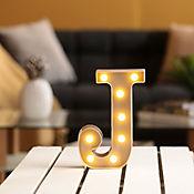Lámpara Decorativa  Letra J Gris