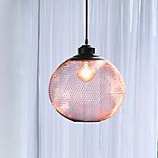 Lámpara Colgante 1 Luz E27 Moda Malla Redonda Cobre