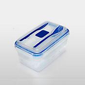 Recipiente Rectangular Hermético Lunch 8x22x15cm