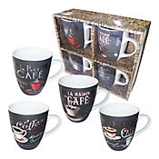 Mug Coffee Late 12 Oz X4und Porcelana