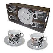 Set De Café 4ptos 8pzas Milk&Sugar 160cc Porcelana