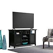 Mesa para TV 2 Gabinetes 48x137x81cm Negro
