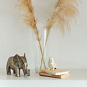 Escultura Pajaro Arabia 12 cm Beige