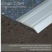 Rampa Autoadhesiva en Aluminio para vinyl - Plata