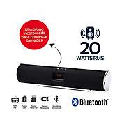 Barra Sonido Recargable 20Wrms Bluetooth Negra