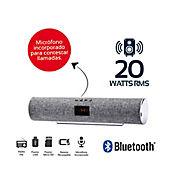 Barra Sonido Recargable 20Wrms Bluetooth Gris