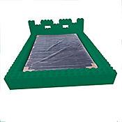 Cama Sencilla + Base Cama en Polipropileno Verde Oscuro