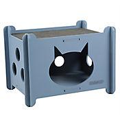 Casa Para Gato Azul