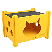 Casa Para Gato Amarillo