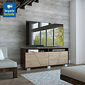 Rack para TV Fraktal 61.3x155.5x39.6cm Miel/Habano