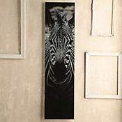 Cuadro Vidrio Zebra 28x110 cm
