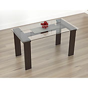 Mesa para Comedor Vidrio 148x78,4cm Wengue