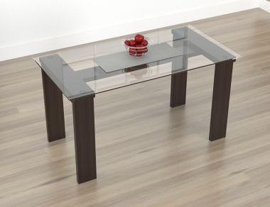 Mesa para Comedor Vidrio 148x78,4cm Wengue - Inval - 379784