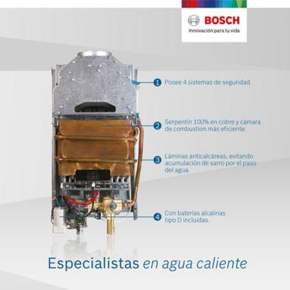 calentador bosch tiro natural 10 litros gas natural t2200