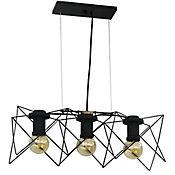 Lámpara Colgante Domo 3 Luces E27 Negra
