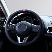 Cubre Volante Flat Negro - Rojo