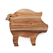 Tabla para Queso en Madera Forma de Cerdo