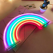 Aplique neón arcoíris colores usb