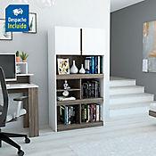 Biblioteca Monet 151x80x40cm Blanco/Siena