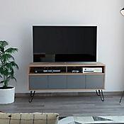 Rack para TV Vassel de 50 Pulgadas 60x123x39cm Miel/Plomo
