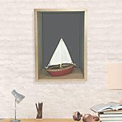 Repisa Daisy Gris 43x26x15 cm
