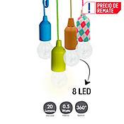 Luz Colgante Decorativa 8 LED Colores Surtidos