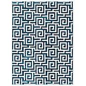 Tapete con Patrón 220xx160 cm Azul