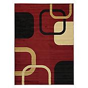 Tapete Diseño Moderno 220x160 cm Rojo