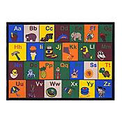 Tapete Educacional Alfabeto 152x99 cm Multicolor