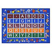 Tapete Educacional Alfabeto 152x99 cm Azul
