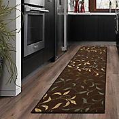 Tapete Diseño con Hojas 299x78 cm Chocolate