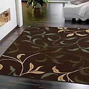 Tapete Diseño con Hojas 198x152 cm Chocolate