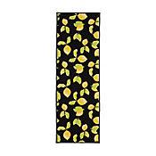 Tapete Diseño Limones 149x50 cm Negro