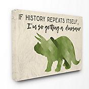 Cuadro Decorativo Im So Getting a Dinosaur Verde Triceratop 61x76