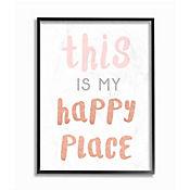 Cuadro Decorativo This is My Happy Place Arte Giclée 28x36